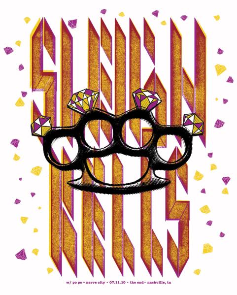 Sleigh Bells concert poster.
