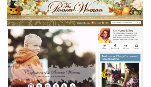 favorite blogs #5: Confessions of a Pioneer Woman.